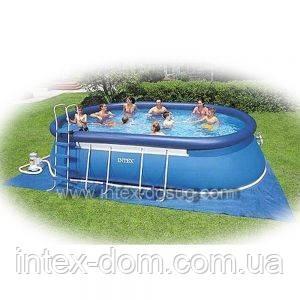 Надувной бассейн «Oval frame pool set» intex 54432 киев