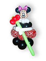 """Фигура из воздушных шаров """"Мини с цветком"""".Высота - 0,80 м"""