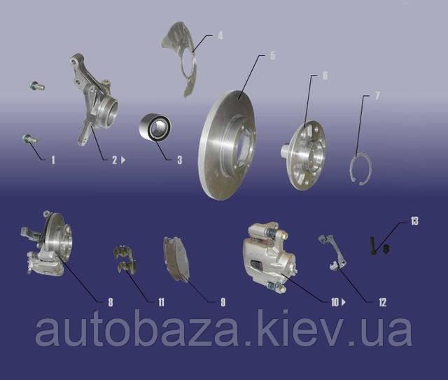 колодки тормозные диски суппорт кулак чери qq