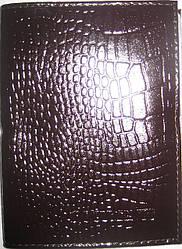 Обложка на водительские документы кожа цвет тёмно-бордовый крокодил