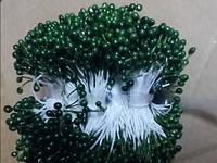 Тычинка на ниточке 4101 зелёный упаковка 10 шт