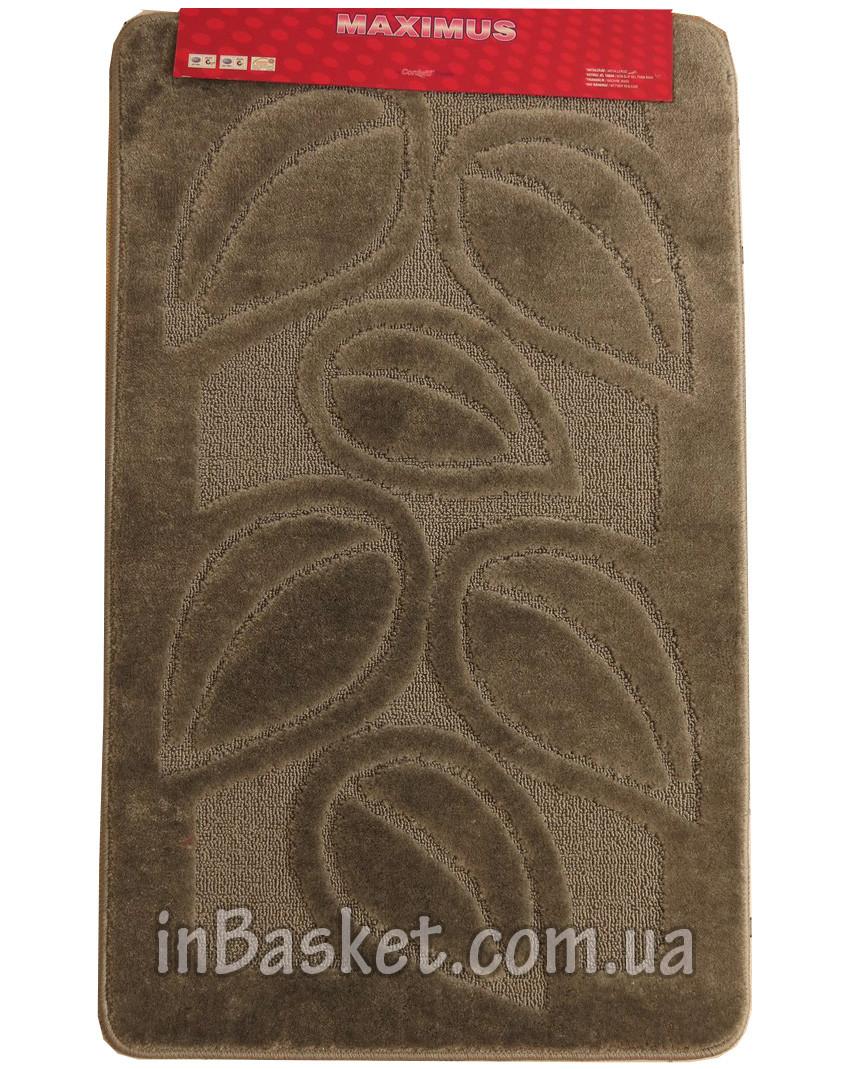 """Противоскользящие коврики в ванную 60х100 см """"Silver leaf"""""""
