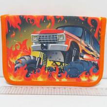"""Пенал школьный """"Monster Car"""" на 1 молнии, с расписанием, 1 отделение, 2 отворота"""