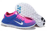 Кроссовки Nike Free Run 4.0 Flyknit Blue Pink