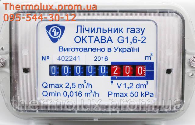 Информационная панель газового счетчика Октава G1,6