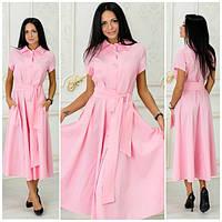 Хлопковое женское платье в расцветках а-40280