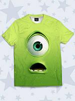 Красочная футболка Monster Mike с прикольным принтом мультяшного персонажа
