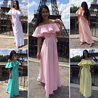 Женское платье с открытыми плечами у-40281