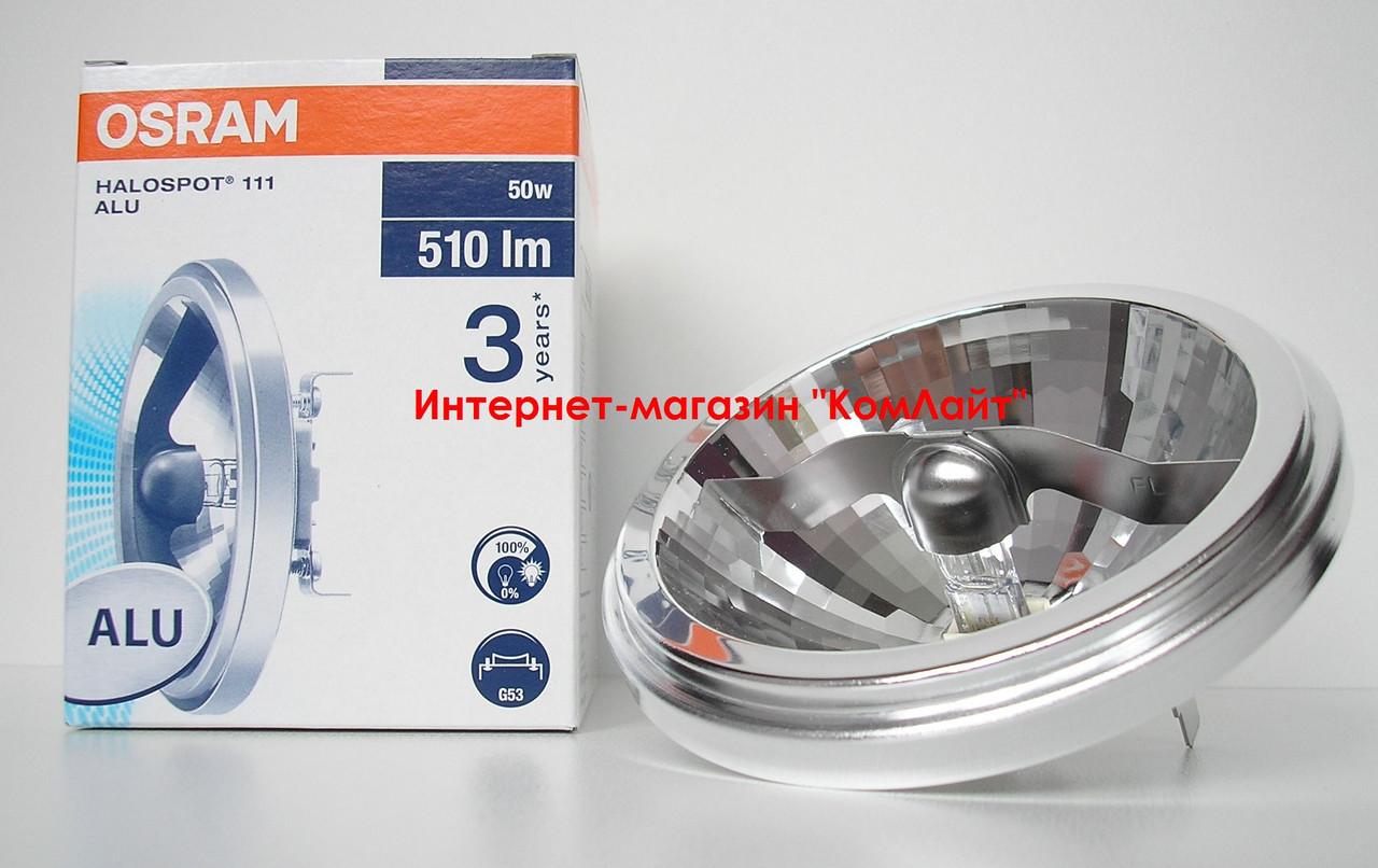 Лампа галогенная OSRAM 41850 WFL 100W 12V G53 40° 111мм