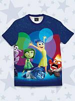 Популярная детская футболка Inside Out с принтом мультяшных персонажей