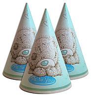 """Колпачки, колпаки праздничные, маленькие """" Мишка Тедди """".  Карнавальные колпаки"""