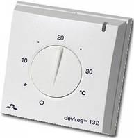 Механический терморегулятор для теплого пола DEVIreg 132 с датчиками температуры пола и воздуха