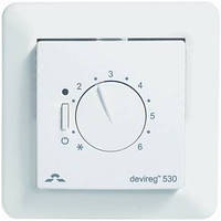 Механический терморегулятор для теплого пола DEVIreg 530 с датчиком температуры пола