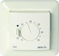 Механический терморегулятор для теплого пола DEVIreg 532 с датчиками температуры пола и воздуха