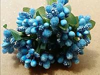 Тычинка на проволоке 4106 голубой 12 веточек