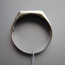 Стильная серебряная мужская печатка с фианитом, 3,9 грамма, фото 3