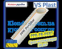 Труба полипропиленовая армированная стекловолокном VS Plast 20*3,4 PPR-FR-PERT для водопровода и отопления