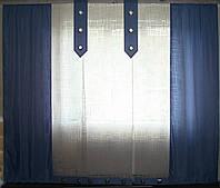 Комплект панельных шторок батист голубые, фото 1
