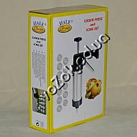 Кондитерский шприц пресс дозатор Jiale Cookie Press с 8 насадками для кремов и 13 насадками для печенья, фото 1