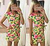 Цветочное платье с коротким рукавом, фото 3