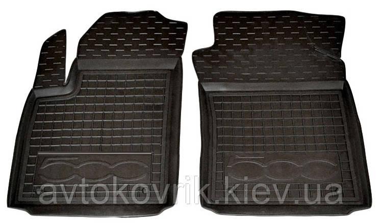 Полиуретановые передние коврики в салон Fiat 500 2007- (AVTO-GUMM)