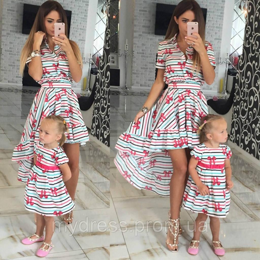 463ddb7499bd Family Look парные платья Summer мама+дочка - MY DRESS SHOP стильная одежда  от лучших