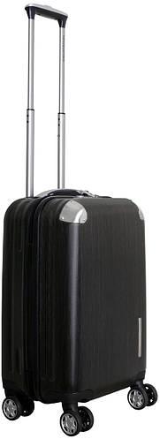 Малый чемодан пластиковый на 4-колесный 41 л. Vip Collection Mont Blanc MB.20.grey серый