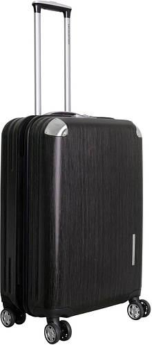Пластиковый средний чемодан на 4-х колесах 67 л. Vip Collection Mont Blanc MB.24.grey серый