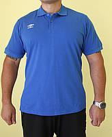 Мужская футболка Umbrо 510114-071 синяя код 055в