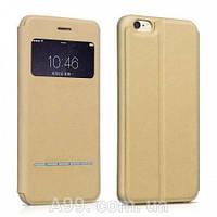 Чехол-книжка USAMS IP6LGC03 Lange Series sliding для iPhone 6 золотая
