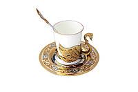 """Кофейный набор """"Одинокий лебедь"""". Романтичный подарок, подарок любимым, подарок на свадьбу., фото 1"""