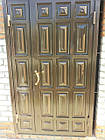 Металлические двери жатка со стеклопакетом и ковкой, фото 6