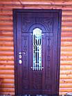 Металлические двери жатка со стеклопакетом и ковкой, фото 7