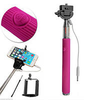 Монопод для селфи PowerPlant ISM-02U со шнуром AUX (ISM02U) Pink