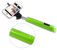 Монопод для селфи Selftimer Wireless Zoom+Bluetooth+USB Салатовый, фото 1
