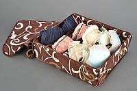 Органайзер для белья  на 7 отделений с крышкой. Коричневый