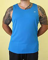Мужская майка голубая New Balance 1138 код 003В