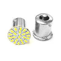 Светодиодная лампа цоколь T15, P21W (1156 BA15s) 22-SMD 3014, 24В