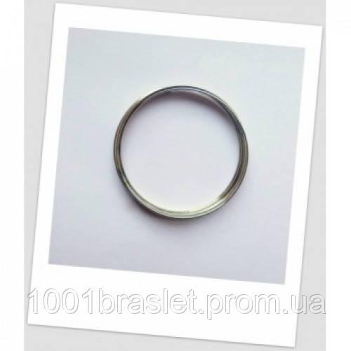 Мемори-проволока для браслета, стального цвета, 70 мм диаметром. - 1001braslet.com.ua в Киеве