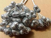 Тычинка на проволоке 4115 серебро 12 сердечек