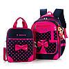 Рюкзак с сумочкой для девочки, 3 цвета