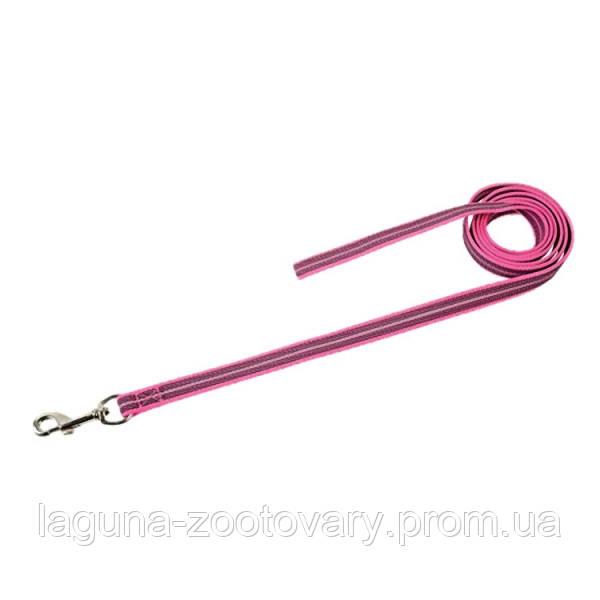 Sprenger прорезиненный поводок 10м/20мм без ручки для собак, нейлон, неоново-розовый