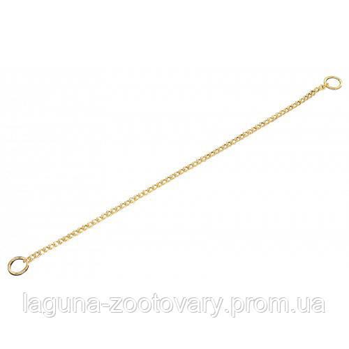 Sprenger круглое звено цепочка-ошейник для собак, 2 мм, позолоченная сталь