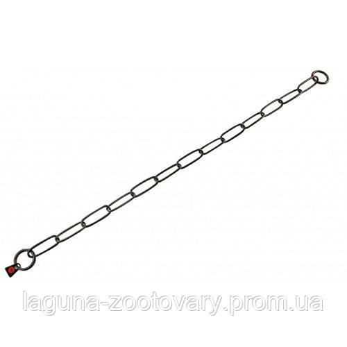 Sprenger Long Link ошейник-цепь 50см/3мм для собак, широкое звено, черная сталь