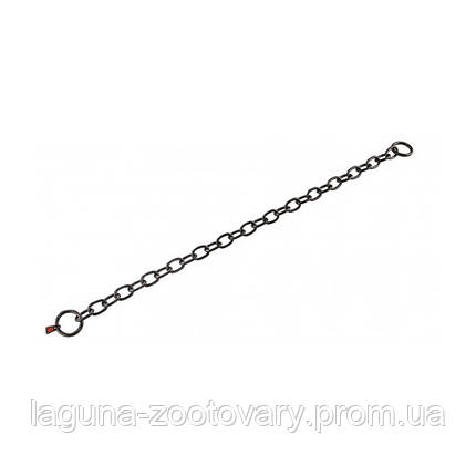 Sprenger Long Link ошейник 69см/4мм для собак, среднее звено, черная сталь, фото 2