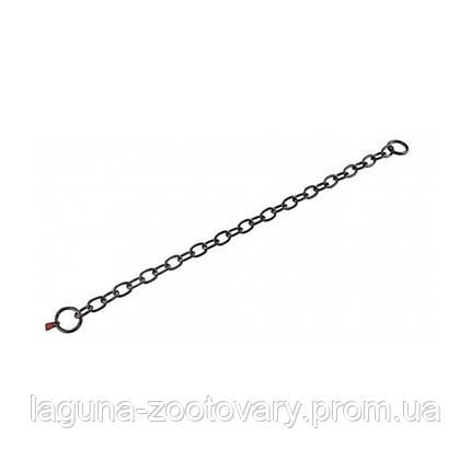 Sprenger Long Link ошейник 74см/4мм для собак, среднее звено, черная сталь, фото 2