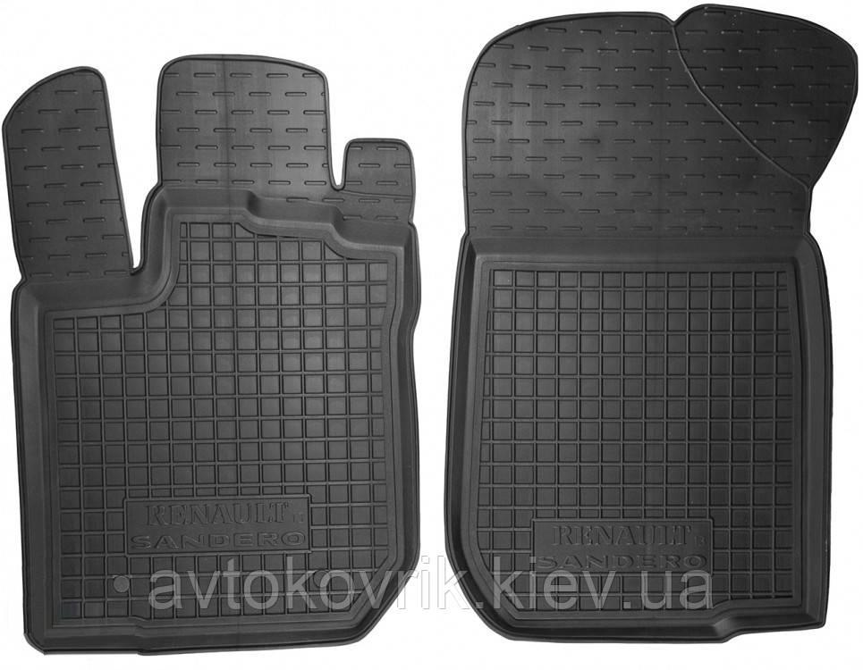 Полиуретановые передние коврики в салон Renault Sandero II 2012- (AVTO-GUMM)