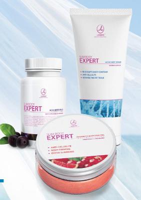 Набор SLIM BODY EXPERT (Acai berry plus 60 capsules, Advanced body peeling 200 ml , Active body serum 150 ml)