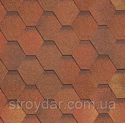 Бітумна черепиця SHINGLAS Класик Кадриль Соната Яшма (Червоно-коричневий)