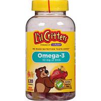 Витамины детские жевательные L'il Critters Omega-3 Assorted Fruit 120 шт